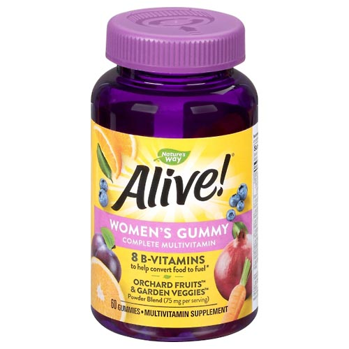 Image for Alive Vitamins, Women's, Gummy, Fruit Flavors 60 ea from Mikes Pharmacy