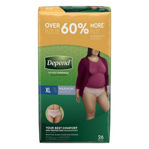 Image for Depend Underwear, for Women, Maximum Absorbency, XL, Value 26 ea from Mikes Pharmacy