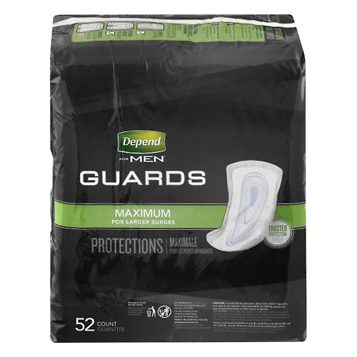 Image for Depend Guards, Maximum Absorbency 52 ea from Mikes Pharmacy