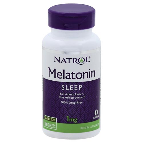 Image for Natrol Melatonin, 1 mg, Tablets, Value Size 180 ea from Mikes Pharmacy