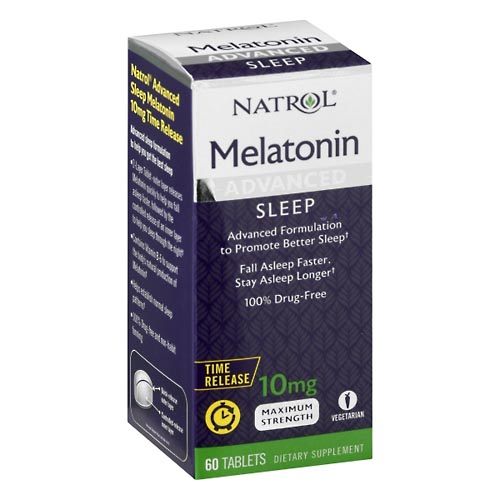 Image for Natrol Melatonin, Maximum Strength, 10 mg, Tablets 60 ea from Mikes Pharmacy