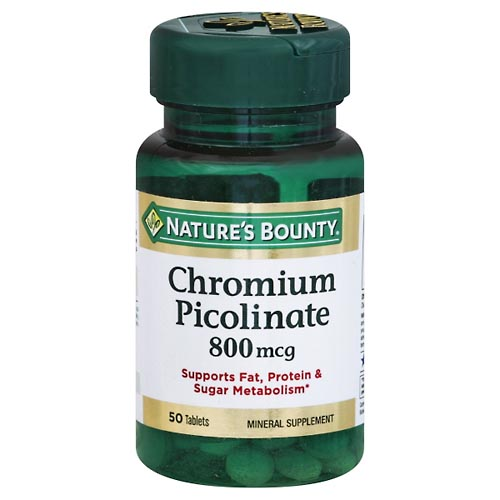 Image for Natures Bounty Chromium Picolinate, 800 mcg, Tablets 50 ea from Mikes Pharmacy