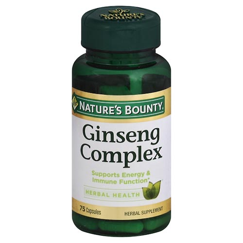 Image for Natures Bounty Ginseng Complex, Capsules 75 ea from Mikes Pharmacy