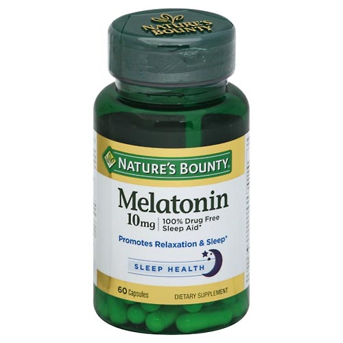 Image for Natures Bounty Melatonin, 10 mg, Capsules 60 ea from Mikes Pharmacy