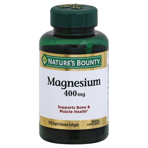 Image for Natures Bounty Magnesium, 400 mg, Rapid Release Softgels 75 ea from Mikes Pharmacy