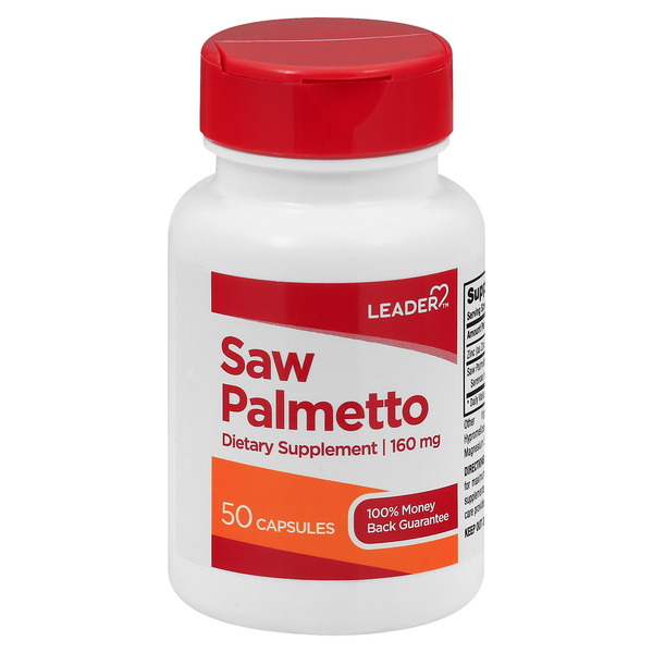 Image for Leader Saw Palmetto, 160 mg, Capsules 50 ea from Mikes Pharmacy