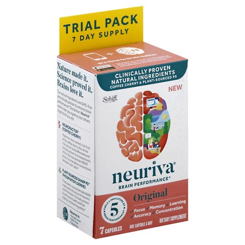 Image for Neuriva Brain Performance, Original, Trial Pack 7 ea from Mikes Pharmacy