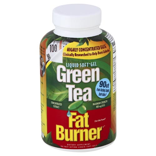Image for Green Tea Fat Burner Green Tea Fat Burner, Maximum Strength, 400 mg EGCG, Fast-Acting Liquid Soft-Gels 90 ea from Mikes Pharmacy