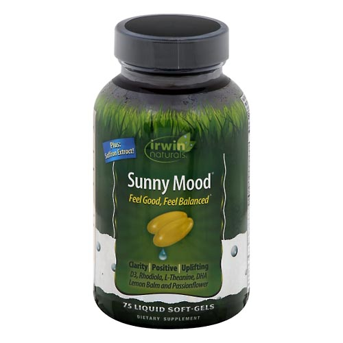 Image for Irwin Naturals Sunny Mood, Liquid Soft-Gels 75 ea from Mikes Pharmacy