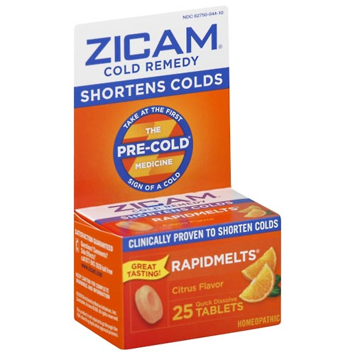 Image for Zicam Cold Remedy, Citrus Flavor, Quick Dissolve Tablets 25 ea from Mikes Pharmacy