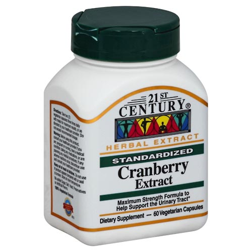 Image for 21st Century Cranberry Extract, Standardized, Vegetarian Capsules 60 ea from Mikes Pharmacy