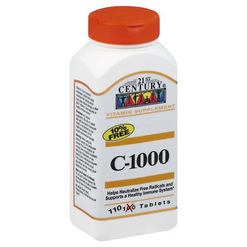 Image for 21st Century Vitamin C-1000, Tablets 110 ea from Mikes Pharmacy
