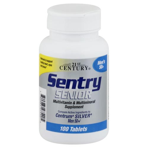 Image for 21st Century Sentry Senior, Men's 50+, Tablets 100 ea from Mikes Pharmacy