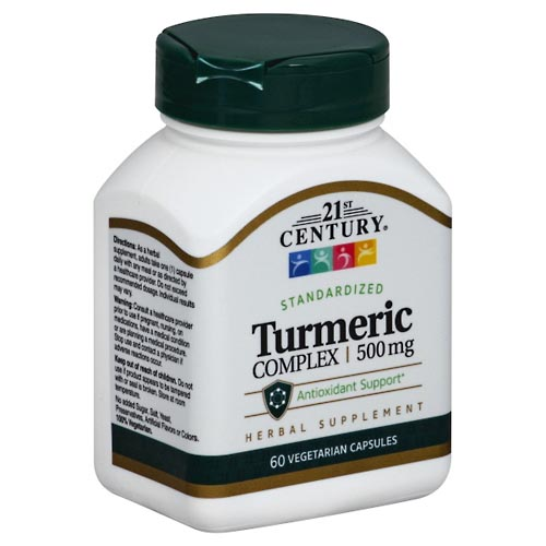 Image for 21st Century Turmeric Complex, 500 mg, Vegetarian Capsules 60 ea from Mikes Pharmacy