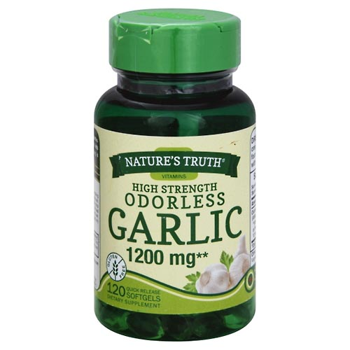 Image for Natures Truth Garlic, Odorless, High Strength, 1200 mg, Quick Release Softgels 120 ea from Mikes Pharmacy