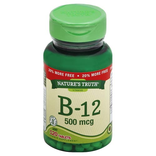 Image for Natures Truth Vitamin B-12, 500 mcg, Tablets 120 ea from Mikes Pharmacy